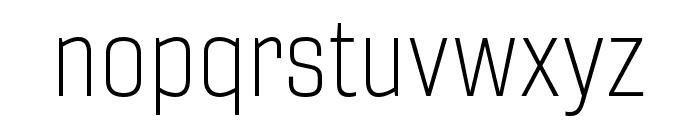 Gineso Cond Thin Font LOWERCASE