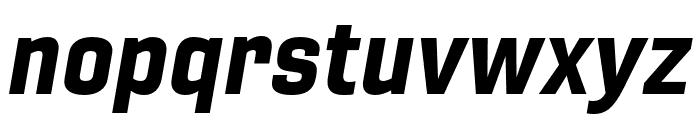 Gineso Ext Black Italic Font LOWERCASE