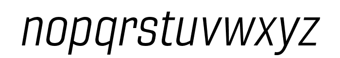 Gineso Ext Book Italic Font LOWERCASE