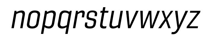 Gineso Ext Regular Italic Font LOWERCASE