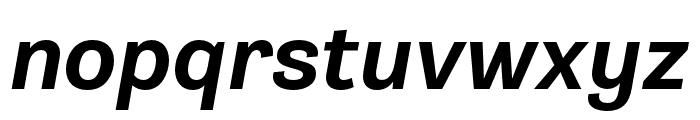 Gira Sans ExtraBold Italic Font LOWERCASE