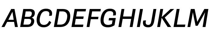 Gira Sans Italic Font UPPERCASE