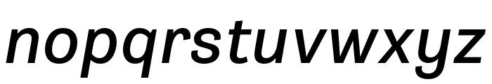Gira Sans Italic Font LOWERCASE
