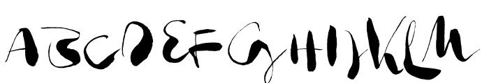 Gloss Drop Regular Font UPPERCASE