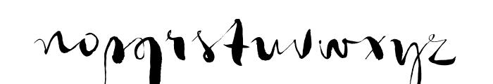 Gloss Drop Regular Font LOWERCASE