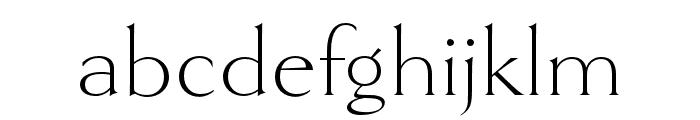 Goldenbook Light Font LOWERCASE