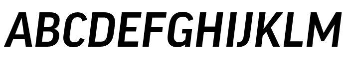 Good Headline Pro Narrow Medium Italic Font UPPERCASE