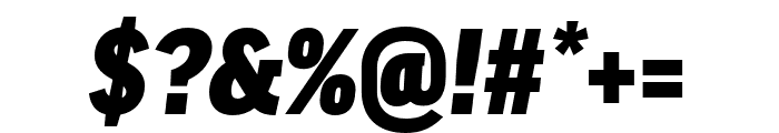 Good Pro Cond Ultra Italic Font OTHER CHARS