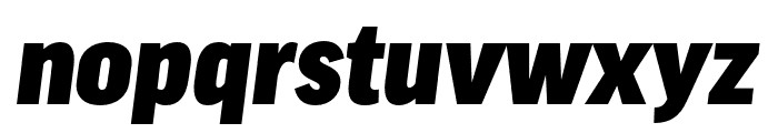 Good Pro Cond Ultra Italic Font LOWERCASE