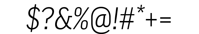 Good Pro Extd Light Italic Font OTHER CHARS