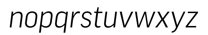 Good Pro Extd Light Italic Font LOWERCASE