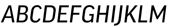 Good Pro XCond News Italic Font UPPERCASE