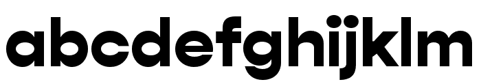 Gopher Black Font LOWERCASE