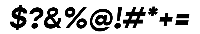 Gopher Bold Italic Font OTHER CHARS