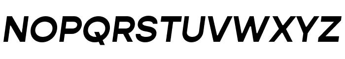 Gopher Bold Italic Font UPPERCASE