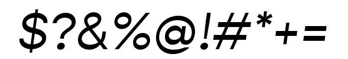 Gopher Italic Font OTHER CHARS