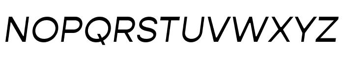 Gopher Italic Font UPPERCASE