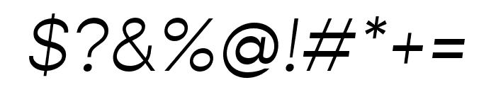 Gopher Light Italic Font OTHER CHARS