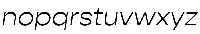 Gopher Light Italic Font LOWERCASE