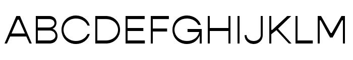 Gopher Light Font UPPERCASE