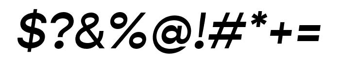 Gopher Medium Italic Font OTHER CHARS