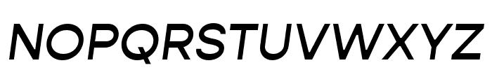 Gopher Medium Italic Font UPPERCASE