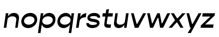 Gopher Medium Italic Font LOWERCASE