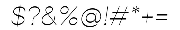 Gopher Thin Italic Font OTHER CHARS