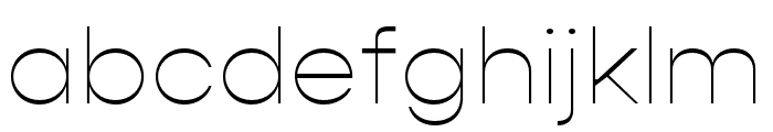 Gopher Thin Font LOWERCASE