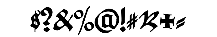 Gothicus Roman Regular Font OTHER CHARS