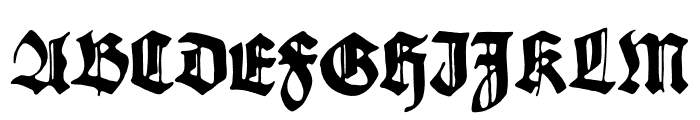 Gothicus Roman Regular Font UPPERCASE