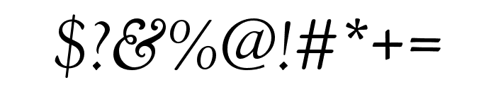 Goudy Old Style Regular Italic Font OTHER CHARS