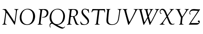 Goudy Old Style Regular Italic Font UPPERCASE