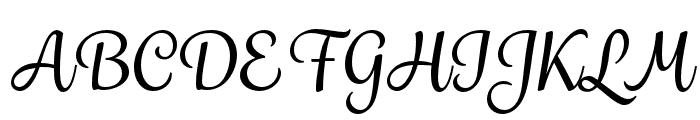 Grafolita Script Medium Font UPPERCASE