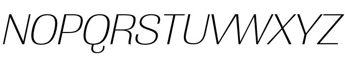 Grange Extra Light Condensed Italic Font UPPERCASE