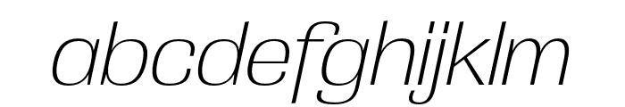 Grange Extra Light Condensed Italic Font LOWERCASE