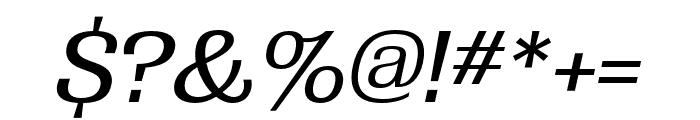 Grange Medium Extended Italic Font OTHER CHARS