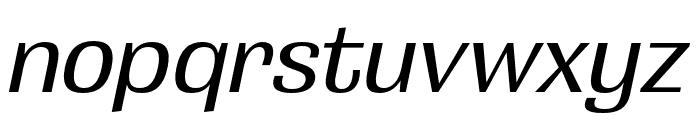 Grange Medium Extended Italic Font LOWERCASE