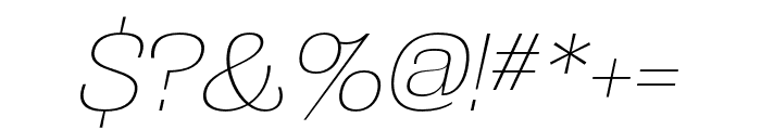 Grange Thin Italic Font OTHER CHARS