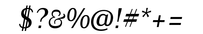 Granville Italic Font OTHER CHARS