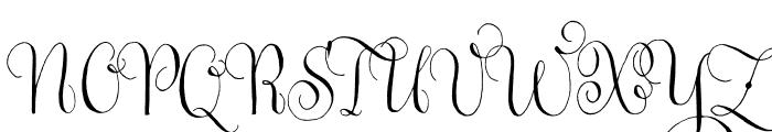 Gratitude Script Pro Regular Font UPPERCASE