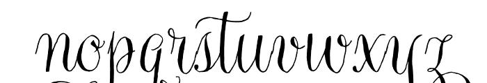 Gratitude Script Pro Regular Font LOWERCASE