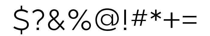 Gravesend Sans Light Font OTHER CHARS