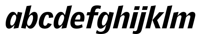 GriffithGothic BlackItalic Font LOWERCASE