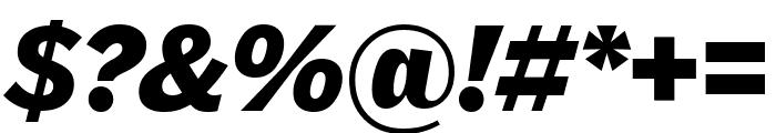GriffithGothic UltraItalic Font OTHER CHARS