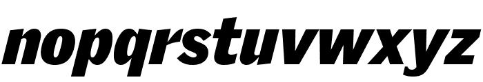 GriffithGothic UltraItalic Font LOWERCASE