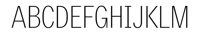 GriffithGothicCond Thin Font UPPERCASE