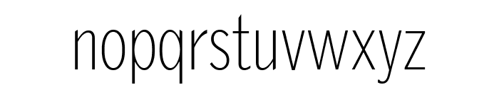 GriffithGothicCond Thin Font LOWERCASE