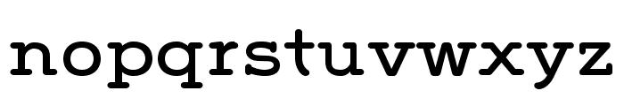 Grover Slab Caps Regular Font LOWERCASE