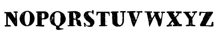 HVD Bodedo Regular Font UPPERCASE